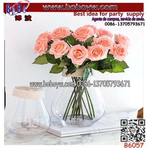 Artificial Flowers Yiwu Rose Artificial Flowers Peony Bridal Wedding Bouquet Home Decor (B6057)