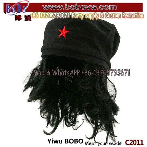 Che Guevara Beret Hat with Hair Birthday Party Supplies Party Hat Party Costumes School Supplies (C2011)