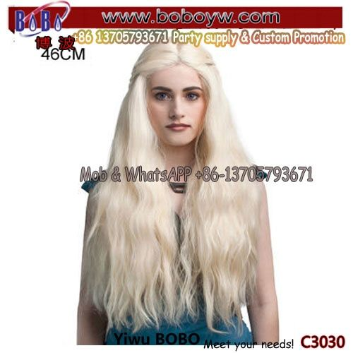 Party Wig Halloween Wig Birthday Party Supplies Lace Wigs Novelty Party Gifts (C3030)