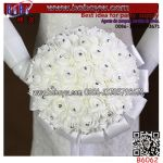 Fashion Wholesale Handmade Artificial Flower Wedding Bridal Bouquet (B6062)