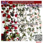 Artificial Flower Wholesale Rose Rattan Home Decoration Flower Wedding Supplies (B6012)