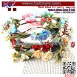 Crown Bride Women Flower Hair Band Wedding Floral Headband Girl Accessories (B6032)