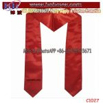 Fashion Stylish Silk Printed Logo Scarf School University Uniform Scarf Custom Logo Scarf (C1027)