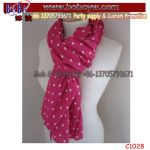 Party Favor Printed Buff Woman Scarf Polyester Scarf Spotty Scarf Business Promotion Gift (C1028)