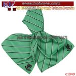 New Design Uniform Stripe Logo Silk Polyester Scarf Adult Scarves (C1049)