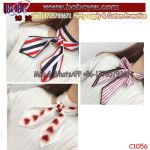 Customer Printed Mini Cheap Women Neckerchief Bow Tie School Tie School Scarf (C1056)