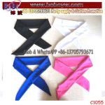 Custom Logo Scarf Sports Head Ties Back Headbands Sweatbands for Running (C1055)
