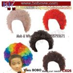 Birthday Party Items Kids Curly Afro Pop Clowen Wig Birthday Gifts Party Supplies (C3026)