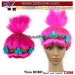 Factory Wholesale Carnival Costumes Halloween Wig Party Supplies Trolls Wig Birthday Party Products (C3056)