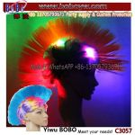Party Supplies Wholesale Novelty Craft LED Party Supply Crazy Funny Wig Fans Wig Party Wig (C3057)